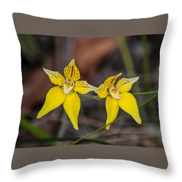 Cowslip Orchid Australia Throw Pillow