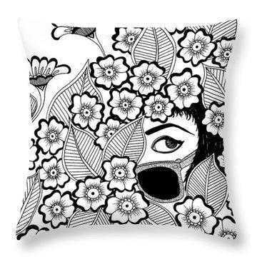 Coy Throw Pillow by Billinda Brandli DeVillez