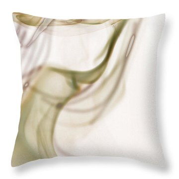 Coy Lady In Hat Swirls Throw Pillow by Vicki Ferrari
