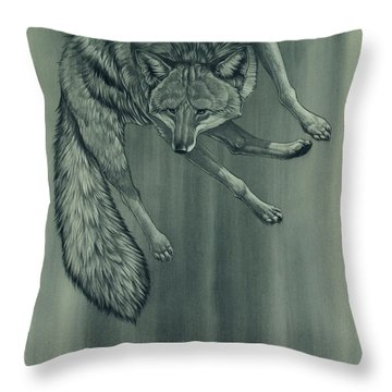 Throw Pillow featuring the digital art Coyote by Aaron Blaise