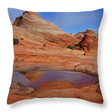 Coyote Butte Reflection Throw Pillow