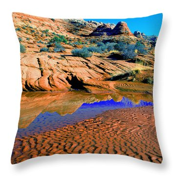 Coyote Buttes Reflection Throw Pillow