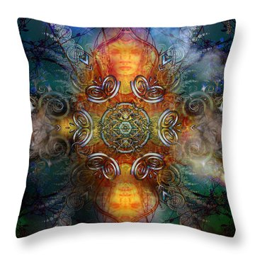 Coyote Dance Throw Pillow