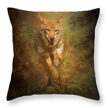 Coyote Energy Throw Pillow