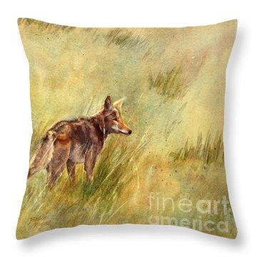 Coyote Santa Rosa Plateau Throw Pillow