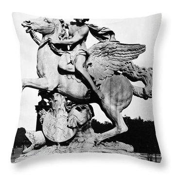 Coysevox: Mercury & Pegasus Throw Pillow by Granger