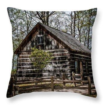 Cozy Cabin Throw Pillow by Joann Copeland-Paul