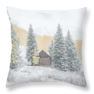 Cozy Cabin Throw Pillow