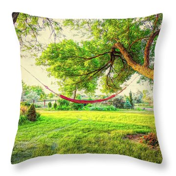 Throw Pillow featuring the photograph Cozy Lazy Afternoon by James BO Insogna