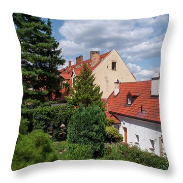 Throw Pillow featuring the photograph Cozy Prague by Jenny Rainbow