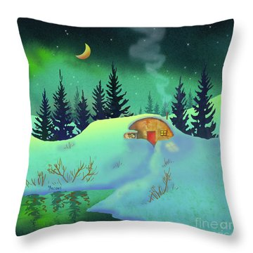 Cozy Quonset Throw Pillow
