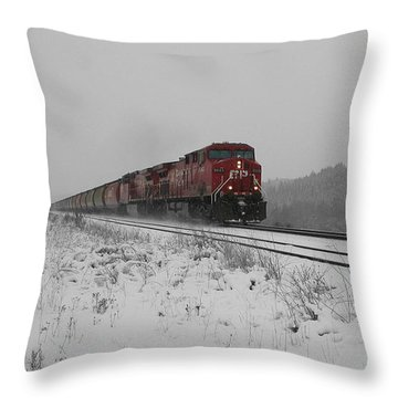 Throw Pillow featuring the photograph Cp Rail 2 by Stuart Turnbull