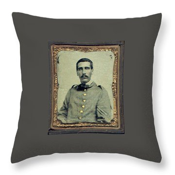 Cprl. Thomas G. West, Csa Throw Pillow