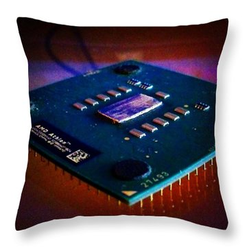 #cpu #computers #hardware #hters Throw Pillow