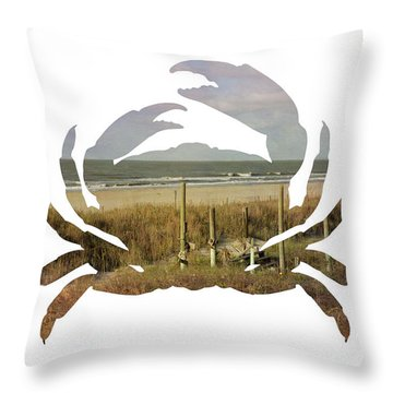 Throw Pillow featuring the photograph Crab Beach by Michael Colgate