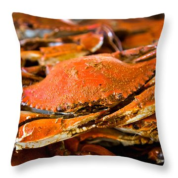 Crab Boil Throw Pillow
