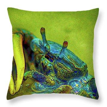 Crab Cakez 2 Throw Pillow