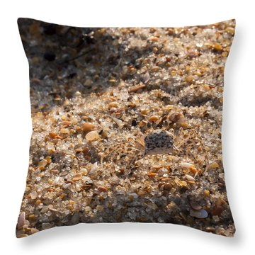 Crab Camoflage Throw Pillow