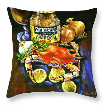 Crab Fixin's Throw Pillow