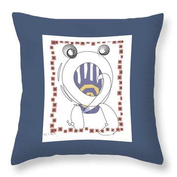 Throw Pillow featuring the digital art Crab by Gabrielle Schertz