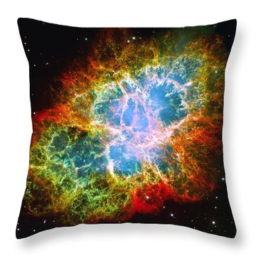 Crab Nebula Throw Pillow by Don Hammond