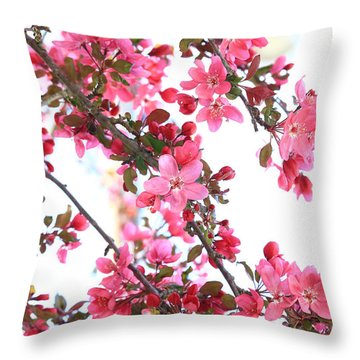 Crabapple Beauty Throw Pillow
