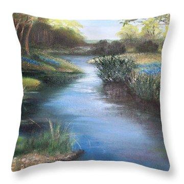 Crabapple Creek Evening Throw Pillow