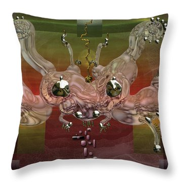 Crabba Throw Pillow by Marko Mitic