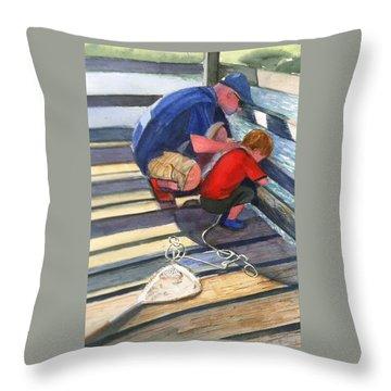 Crabbing Throw Pillow