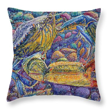 Crabby Throw Pillow by David Joyner