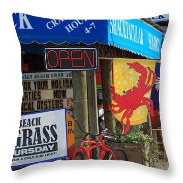 Crabby Hour 4-7 Throw Pillow