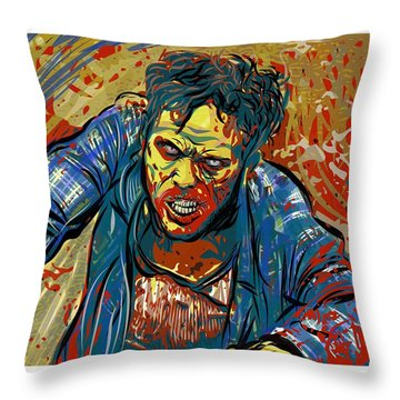 Throw Pillow featuring the digital art Crabby Joe by Antonio Romero