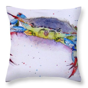Crabby Throw Pillow