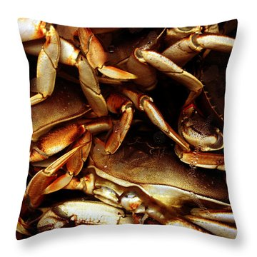 Crabs Awaiting Their Fate Throw Pillow