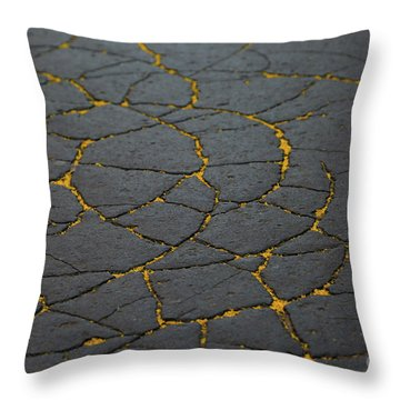 Cracked #11 Throw Pillow