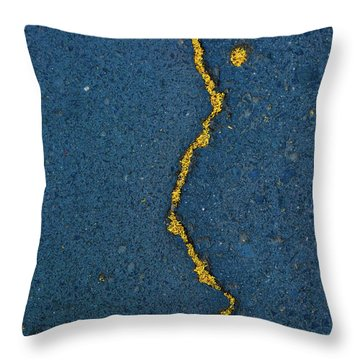 Cracked #2 Throw Pillow