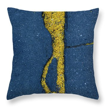 Cracked #3 Throw Pillow