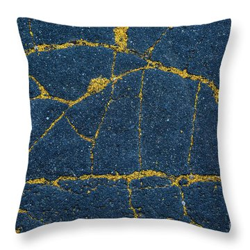 Cracked #5 Throw Pillow