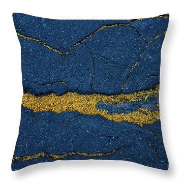 Cracked #6 Throw Pillow