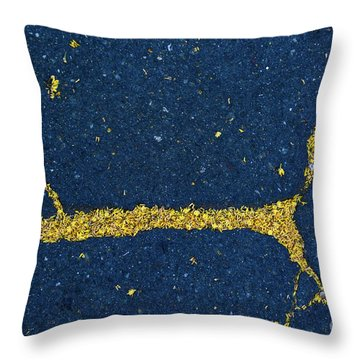 Cracked #7 Throw Pillow