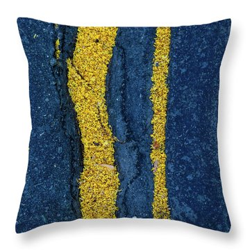 Cracked #9 Throw Pillow