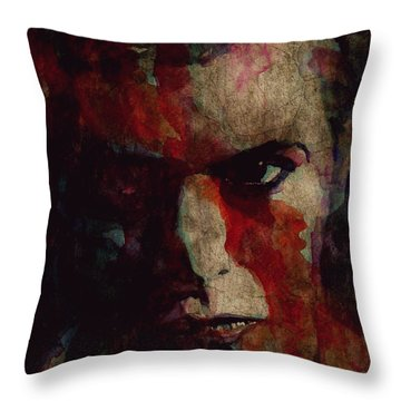 Cracked Actor Throw Pillow