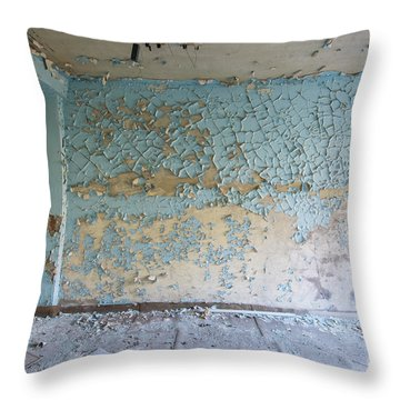 Cracked And Peeled Throw Pillow