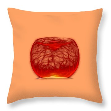 Cracked Glass 2 Throw Pillow