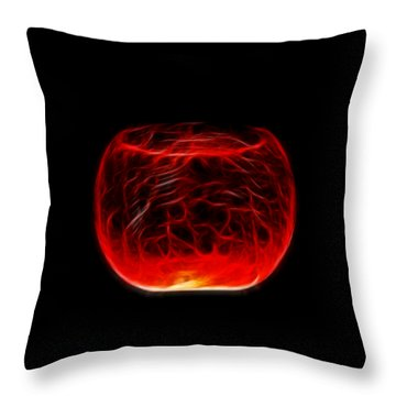 Cracked Glass Throw Pillow