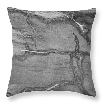 Cracked Throw Pillow by Kristin Elmquist