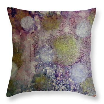 Cracked Lights Throw Pillow