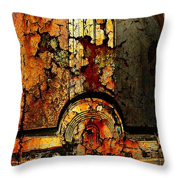 Cracked Pontiac Throw Pillow by Greg Sharpe