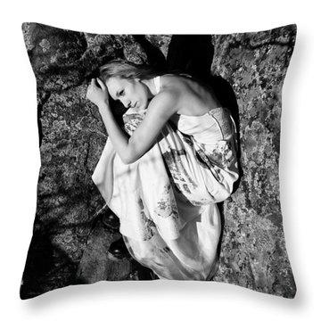 Cracked Throw Pillow by Scott Sawyer