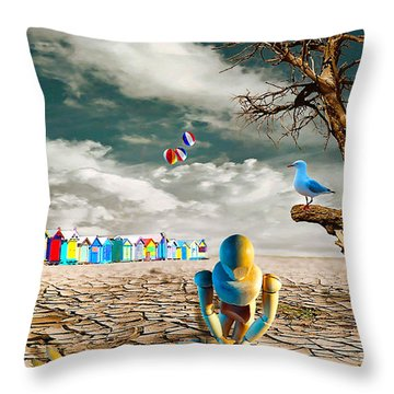 Throw Pillow featuring the photograph Cracked Vi - The Dummies Revival by Chris Armytage